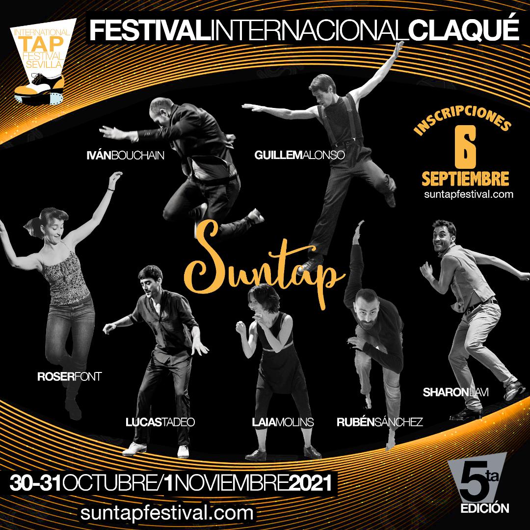 cartel Suntap Festival Internacional Claqué Sevilla 2021